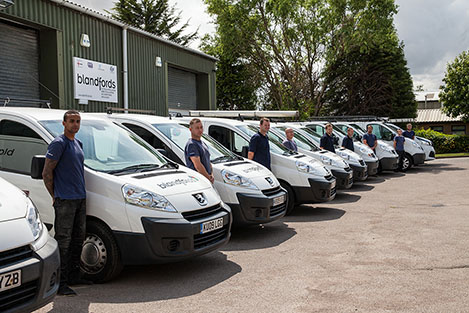 Electricians in Kettering with vans