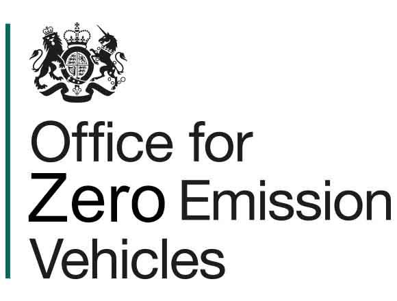 Electronic Vehicles OZEV Grant